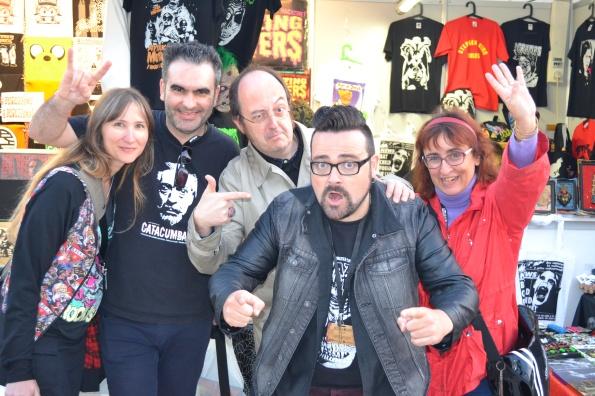 ... y otro encontronazo con nuestros amigos argentinos en el stand de Chaparra Entertainment y su jefe, el gran Dani Moreno