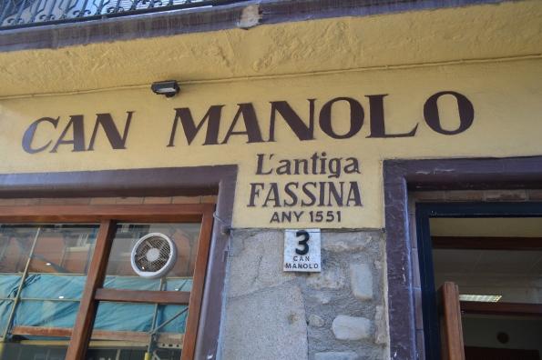 Serendipia cada año hacía una escapada para comer las exquisitas mandonguilles de Can Manolo. Este año fue la última vez, pues en diciembre se jubilan... las echaremos de menos (foto Serendipia)