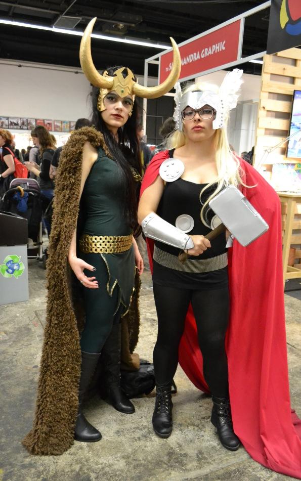 Pero tampoco se perdieron la cita Thor y Loki