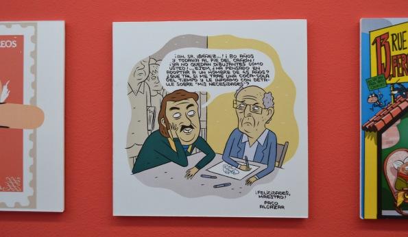 ... Paco Alcázar fue uno de los que homenajeó al maestro.