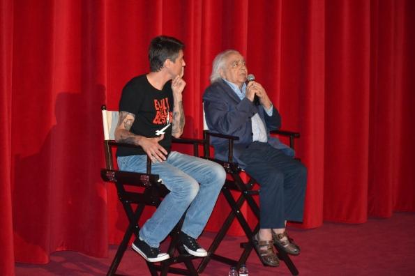 Con Diego López durante el evento en Cine Phenomena