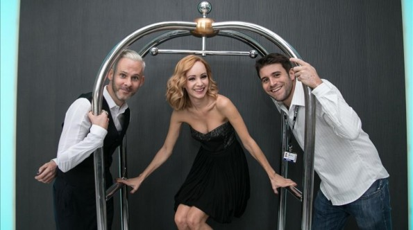 Dominic Monghan, Ksenia Solo y Carles Torrens (Foto: Pau Marti)