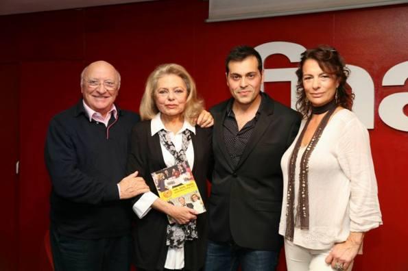 Presentando el libro del 'Un, dos, tres...' junto a Raúl Sender, Mayra Gómez Kemp y Alejandra Grepi (foto archivo Miguel Herrero)