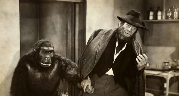 Bela y Lugosi y Emil Van Horn en The Ape Man